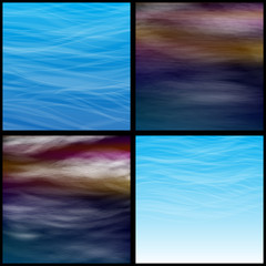прозрачные облака на синем небе