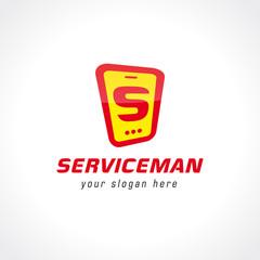 Logo for the service center