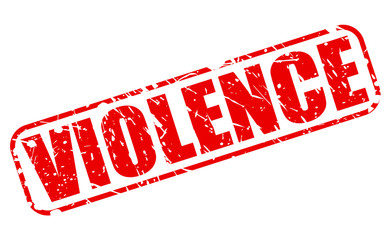 Violence red stamp text