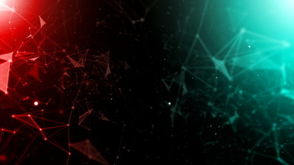 Abstract mesh lines and shapes background V3