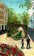 Painting - the old town alley