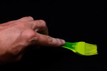 Green Kitchen Silicone Brush