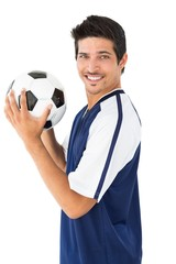 Smiling football player