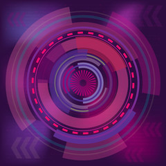 Purple circle digital background
