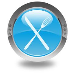 logo restaurant sur bouton