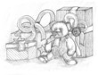 Teddy bear and gifts