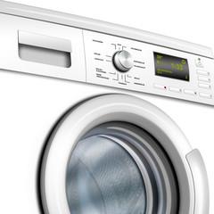 Waschmaschine, Waschvollautomat weiß , isoliert, freigestellt