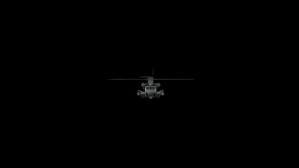 Military Helicopter Flies