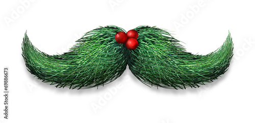 Leinwandbild Motiv Winter Mustache Decoration