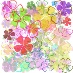 Colorful flowers abstract background.Vector