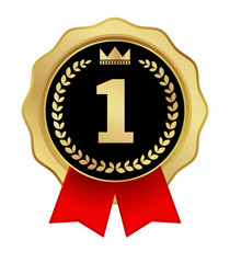 award label first place icon