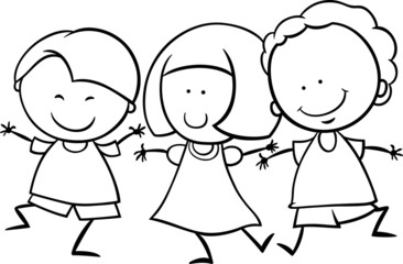 multicultural children coloring page