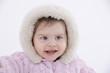 canvas print picture - Portrait eines Babys (6-11 Monate)