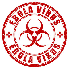 Ebola virus threat, vector stamp