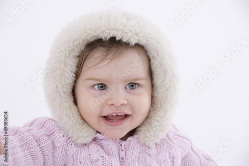 canvas print picture Portrait eines Babys (6-11 Monate)