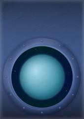 Planet Uranus in space window