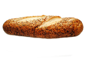 A Loaf of Fresh Organic Everything Bread