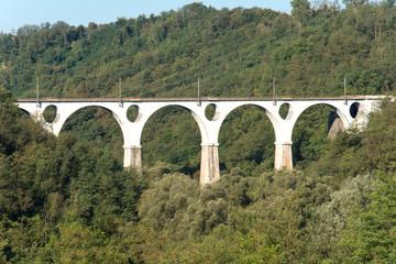 Bridge for trains in Malnate, Varese