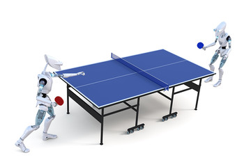 Robots Playing Table Tennis