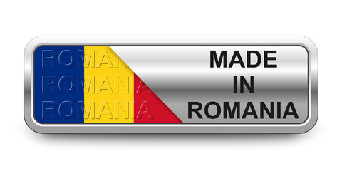 Made in Romania Button