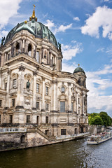 Berlin cathedral and the Spree river, Berlin Germany