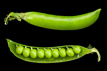 Peas vegetable closeup
