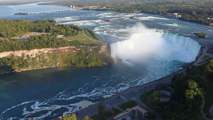 An aerial view of the Horseshoe Falls at Niagara Falls