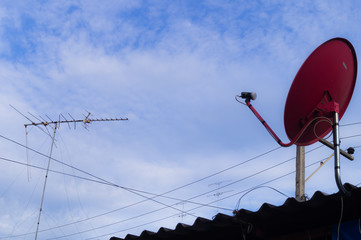 Old and Modern TV-antenna