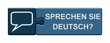 Puzzle-Button blau: Sprechen Sie deutsch?