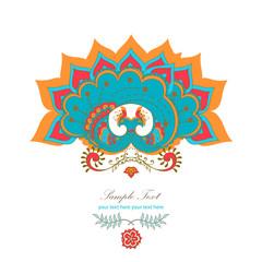 magic decorative hindu peacock