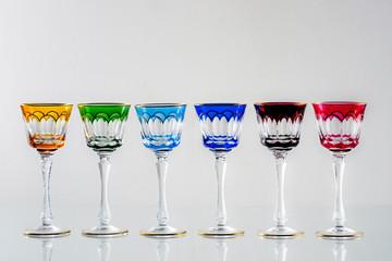 bicchieri antichi colorati