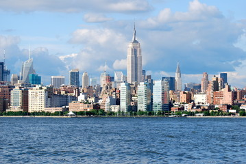 Manhattan Skyline with Empire State Building , New York City