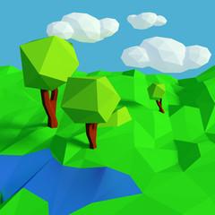 Kleine Landschaft mit simplen Muster
