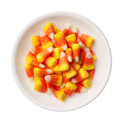 Halloween Candy Corns isolated on white background