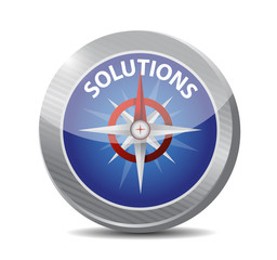 solutions compass illustration design