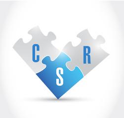 csr puzzle pieces illustration design