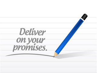 deliver on your promises message illustration