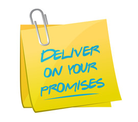 deliver on your promises illustration design