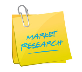 market research post memo illustration design