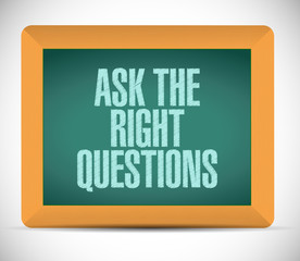 ask the right questions message illustration