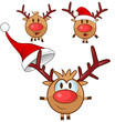 reindeer cartoon set