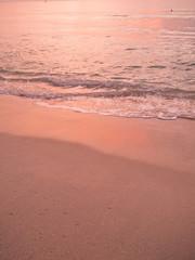 チャウェンビーチの夕暮れ