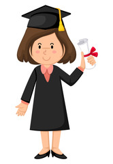 girl in graduation gown