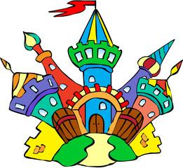 Funny colorful castle