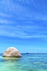 asia in thailand  kho tao  bay isle white  beach     pirogue
