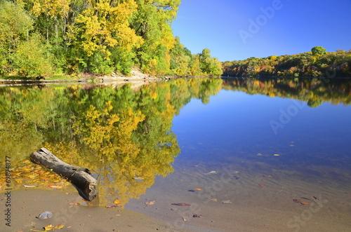 Fotobehang Grote meren Golden river