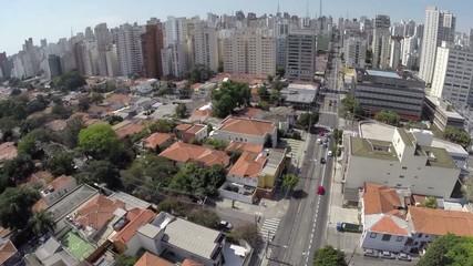 Aerial view from Upscale Neighborhood in Sao Paulo, Brazil