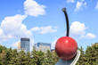 Cherry sculpture in Minneapolis garden, Minnesota. - 69896042