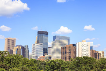 Skyscrapers of Minneapolis, Minnesota.