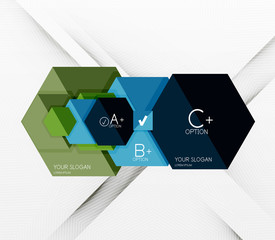Geometric abstract background layout